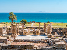 Ancient Romans Ruins Of Baelo Claudia, Next To The Beach Of Bolonia, Near Tarifa In Cadiz In The South Of Spain.