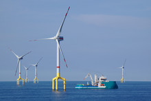 Offshore Wind Turbine In The North Sea