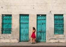 Colorful Old Door Of Merida, Yucatan, Mexico
