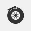 Brake vector icon illustration sign