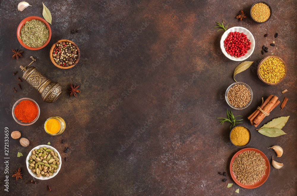 Fototapety, obrazy: Spices Assortment
