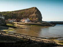 Harbour And Cliff At Staithes,...