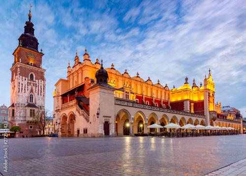 Obraz Sukiennice na Starym Rynku w Krakowie - fototapety do salonu