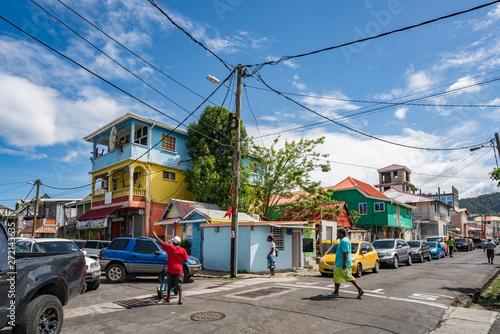 Fotografia, Obraz Roseau market -Views around the caribbean island of Dominica West indies