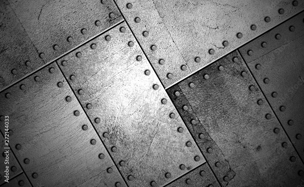 Fototapety, obrazy: steel metal plate background