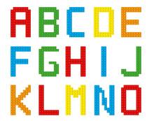 Bricks Alphabet Set / Isolated Letters A-O