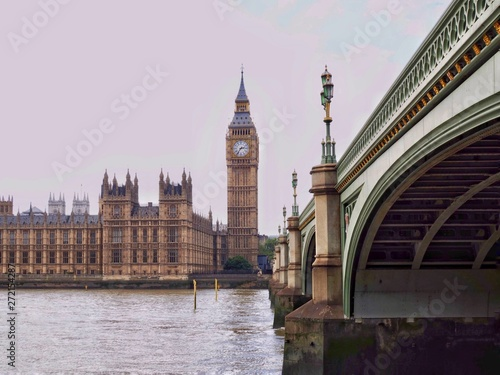 Fototapety, obrazy: big ben and houses of parliament in london