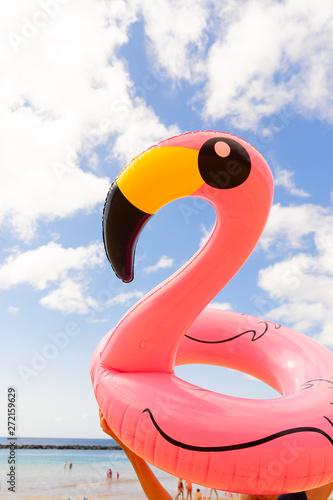 Garden Poster Flamingo Pink flamingo on beach