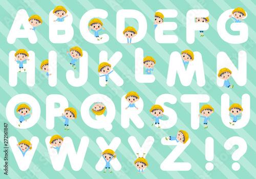 Poster de jardin Route Nursery school boy_A to Z