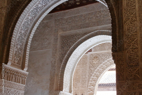 Fotografiet Architecture in Alhambra Palace in Spain