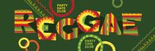 Reggae Music Concept Horizontal Panoramic Poster