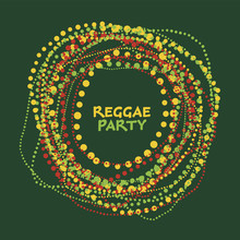Reggae Music Colorful Laconic  Beads Poster.
