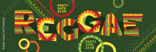 Fotografía Reggae music concept horizontal panoramic poster