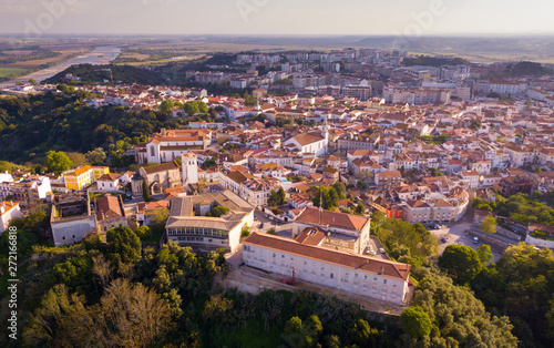 Fotografering Santarem district with buildings and landscape, Portugal