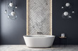 Leinwandbild Motiv Modern grey bathroom interior