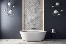 Modern Grey Bathroom Interior
