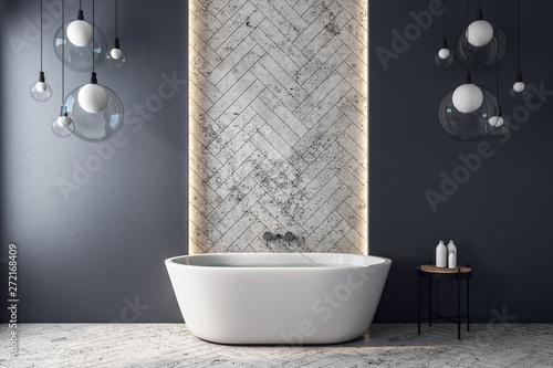 Fotografía  Modern grey bathroom interior