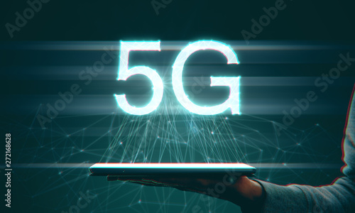Poster Montagne Touchpad with 5G internet