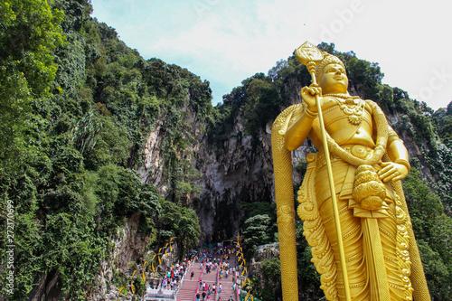 Lord Murugan statue in Batu Caves, Kuala Lumpur Canvas Print