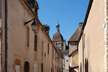 Roofline Of Buildings And Basilica, Beaune, France