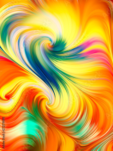 Wall Murals Psychedelic Vivid Palette Composition