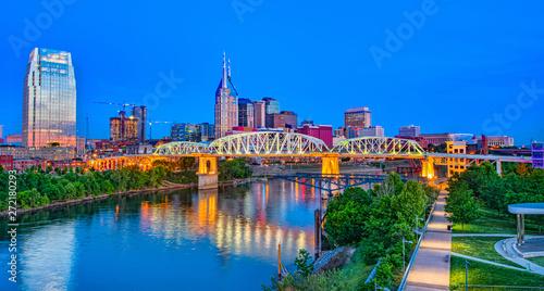 Nashville Tennessee TN Drone Skyline Aerial - 272180293