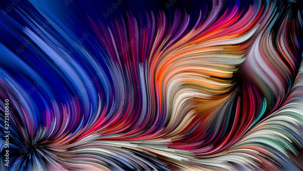 Fototapety, obrazy: Swirling Paint Background