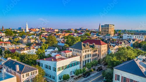 Fototapeta premium Rainbow Row w Charleston South Carolina SC