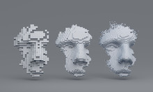 Abstract Human Face, 3d Illust...