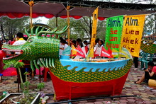 Baronsai And Dragon Boat Burning. Among Indonesians Of Chinese Descent, Usually Held During The Peh Cun Festival, Which They Will Celebrate, Pekalongan/Central Java Indonesia, June 7, 2019