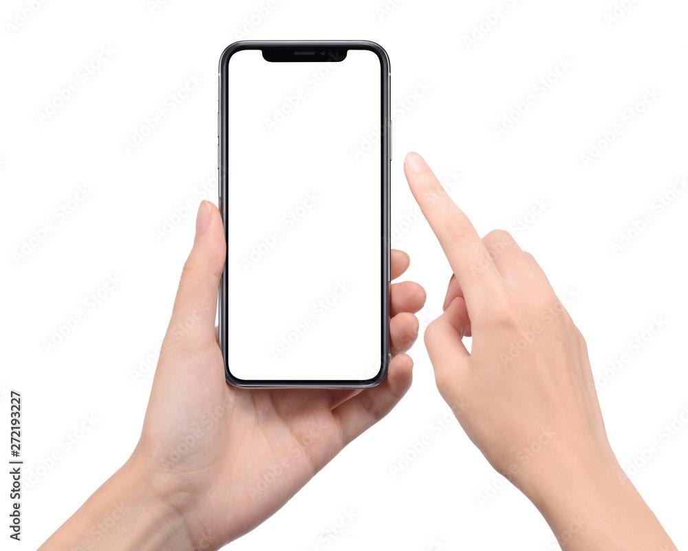 Fototapeta スマートフォンを操作する女性の手