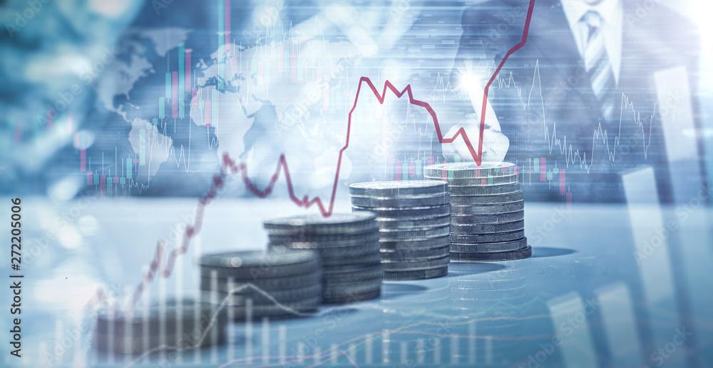 Fototapeta Geld - Aktien - Anlage