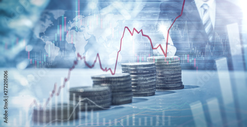Fototapeta Geld - Aktien - Anlage obraz