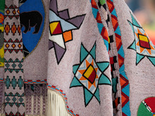 Close Up Of Beaded Pow Wow Garments