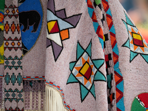 Photo Close Up of Beaded Pow Wow Garments
