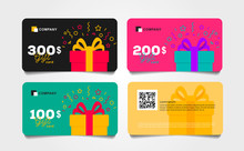 Shopping Gift Cards Template S...