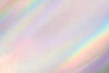 Fototapeta Tęcza - Holographic neon shiny background. Minimalist style, millennial colors.