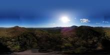 Beautiful Chestatee Overlook (horizon Panorama) Located In The North Georgia Mountains