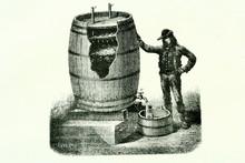 Vinegar Elaboration. Antique Illustration. Book 1889.