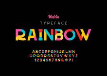 Vector Of Modern Vibrant Font ...