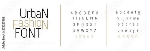 Foto Elegant alphabet letters font