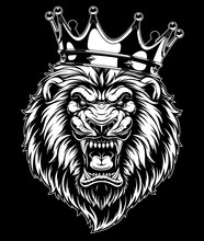 Ferocious Lion In The Crown