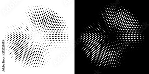 Pinturas sobre lienzo  Halftone circle frame dotted background set