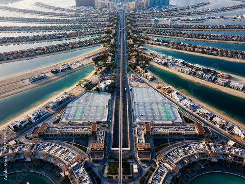 Recess Fitting Dubai The Palm island in Dubai aerial view