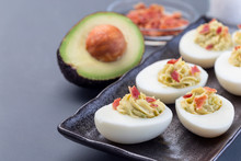 Deviled Eggs Stuffed With Avoc...