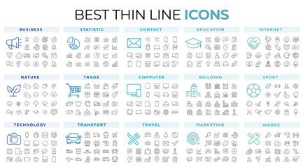 thin line icons