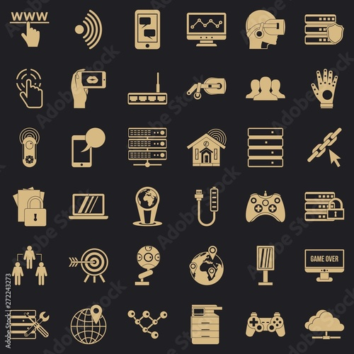 Vászonkép  Broadcaster icons set