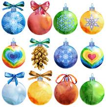 Watercolor Christmas Tree Ball...