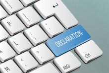 Declaration Written On The Keyboard Button