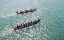 A Dragon Boat On The River And...